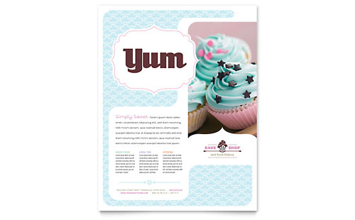 Bakery & Cupcake Shop Flyer