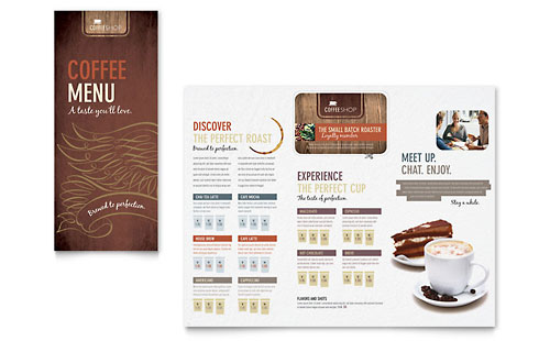 Coffee Shop & Cafe | Menu Templates | Food & Beverage