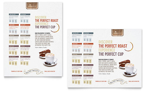 Coffee Shop Poster Template Design