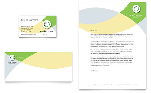 Food Catering Business Card & Letterhead