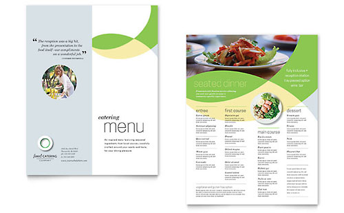 Food Catering Menu Design Template