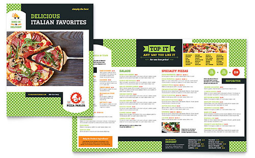 Menu Templates  Indesign Illustrator Publisher Word