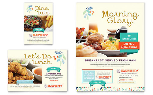Family Restaurant Flyer & Ad Design Template