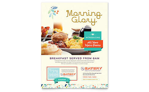 Family Restaurant Flyer Template