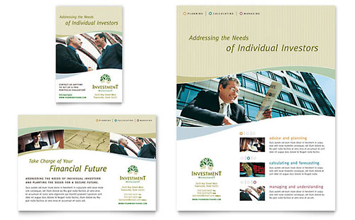 Investment Management Flyer & Ad