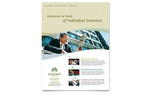 Investment Management Flyer Template