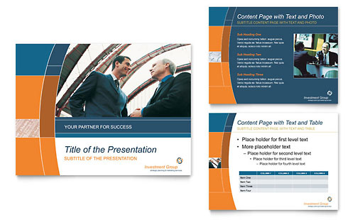 Investment Services PowerPoint Presentation Template