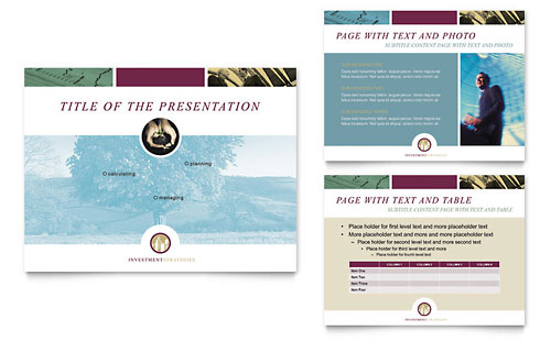 Financial Consulting PowerPoint Presentation Template Design