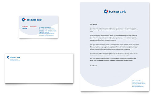 Business Bank Business Card & Letterhead