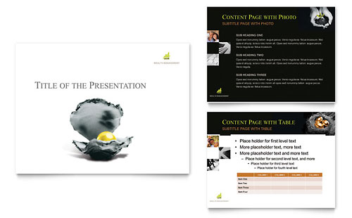 Wealth Management Services PowerPoint Presentation Template Design