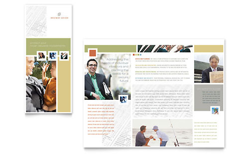 Investment Advisor Brochure Template Design