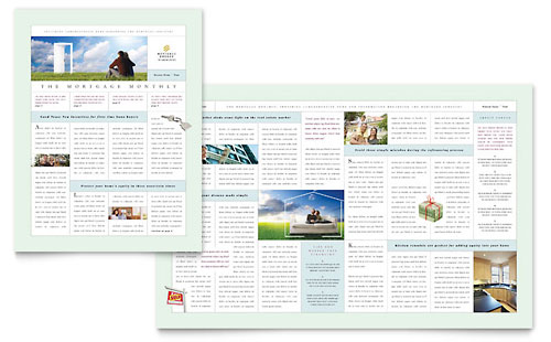 Mortgage Lenders Newsletter Template Design