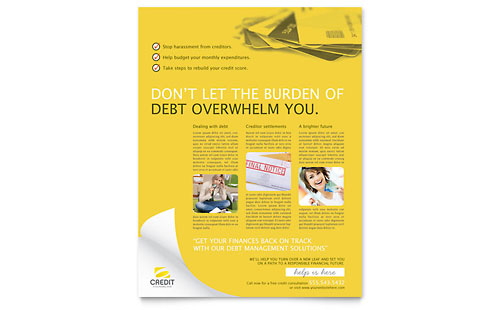 Consumer Credit Counseling Flyer Template Design