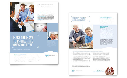 estate planning brochure template design