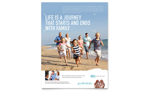estate planning tri fold brochure template design
