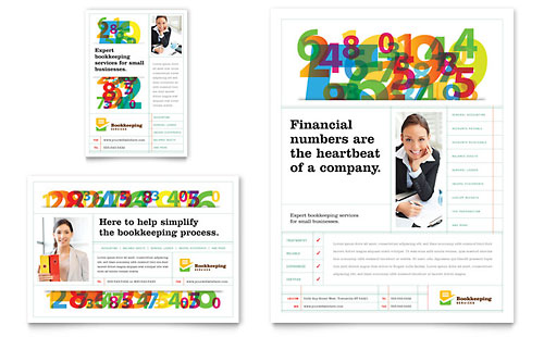 financial services print ads templates design examples