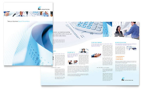 Accounting Firm Brochure Template Design