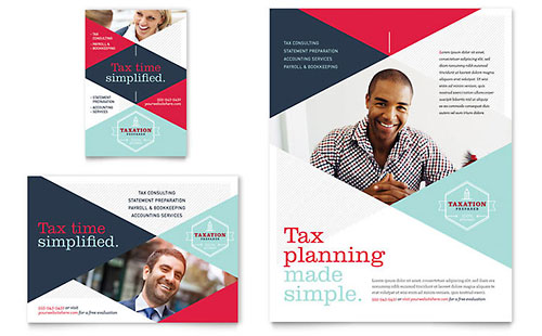 Tax Preparer Flyer & Ad Template Design