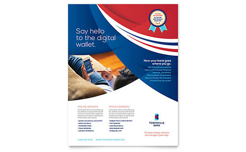 Bank Flyer Design Template