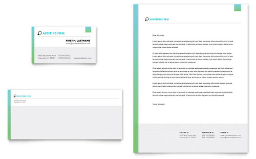 Auditing Firm Business Card & Letterhead