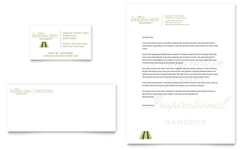 Garden & Landscape Design Business Card & Letterhead