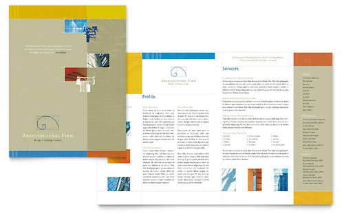 Architecture  Design  Pamphlet Templates  Professional Services