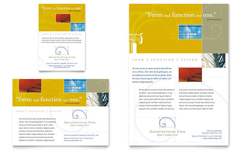 Architectural Firm Flyer & Ad Template Design