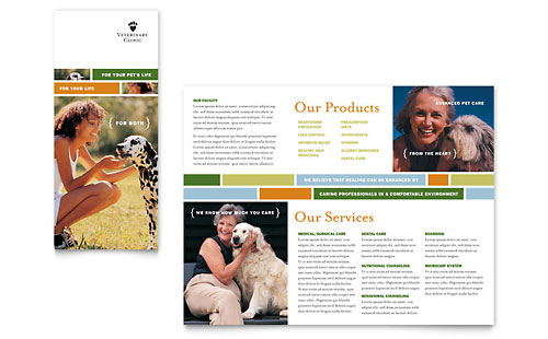 Veterinarian Clinic Brochure Template