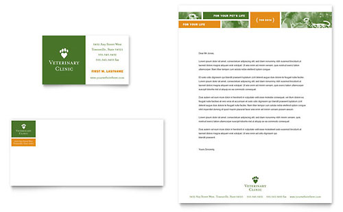 Veterinarian Clinic Business Card & Letterhead