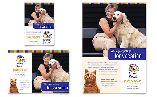 Dog Kennel & Pet Day Care Flyer & Ad Template
