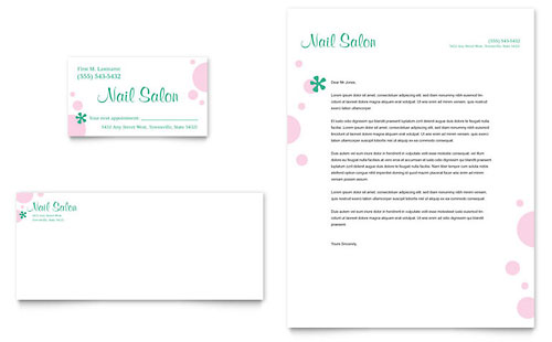 Nail Salon Business Card & Letterhead