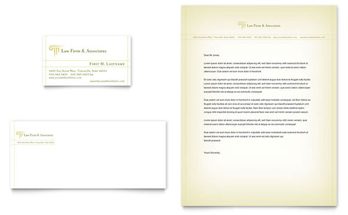 Attorney & Legal Services Business Card & Letterhead Template Design
