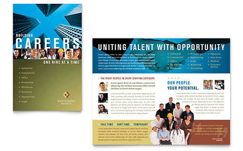 Employment Agency & Jobs Fair Brochure Template