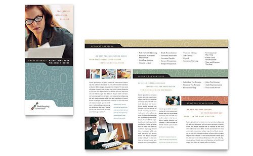 it services brochure template - bookkeeping accounting services brochure template design