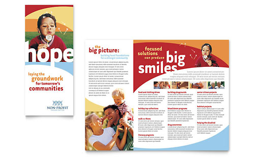 Child Care  Tri Fold Brochure Templates