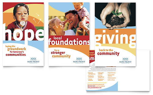 Community Non Profit Postcard Template Design