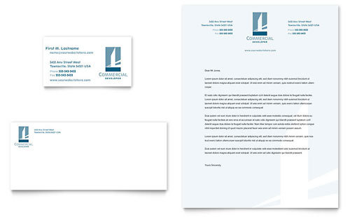 Commercial Developer Business Card & Letterhead