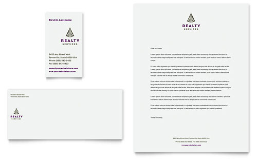 Realty Services Business Card & Letterhead