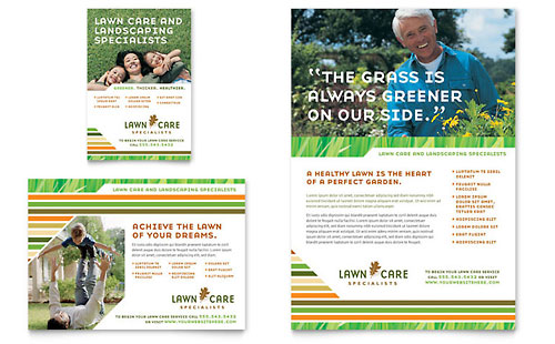 Lawn Care & Mowing Flyer & Ad Template Design