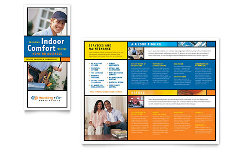 Heating & Air Conditioning Brochure Template Design