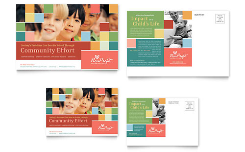 Non Profit Association for Children Postcard