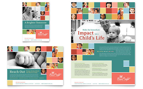 Non Profit Association for Children Flyer & Ad