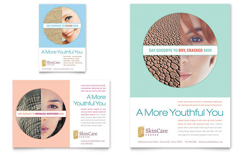 Skin Care Clinic Flyer & Ad Template Design