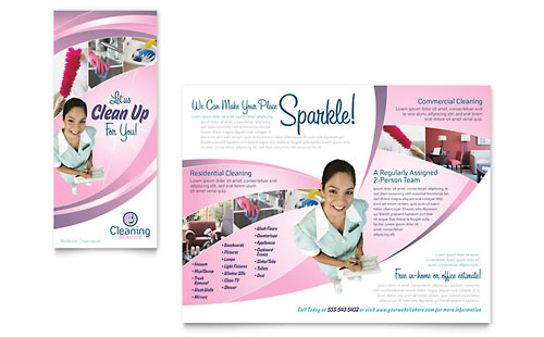 House Cleaning & Maid Services Flyer Template Design