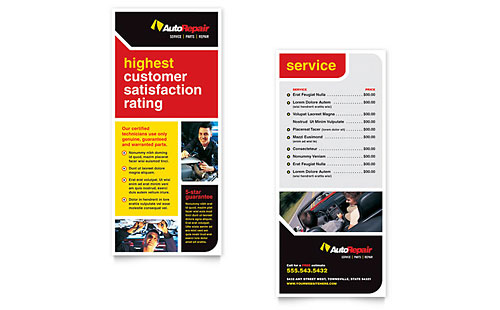 Auto Repair Rack Card
