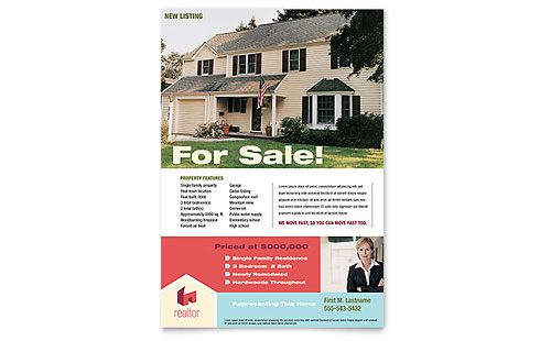 Real Estate Flyers Templates Design Examples