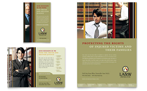 Lawyer & Law Firm Flyer & Ad Template