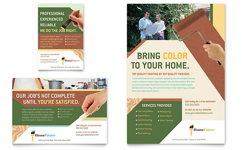 Painter & Painting Contractor Flyer & Ad
