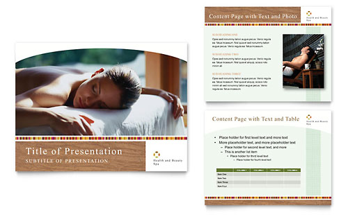 Health & Beauty Spa PowerPoint Presentation Template Design