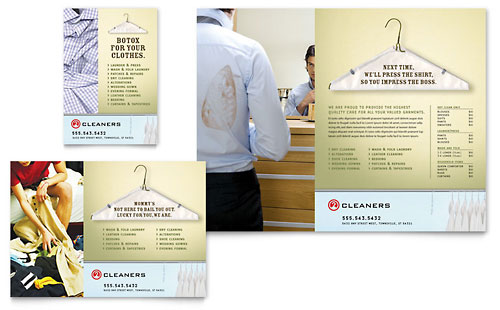 Laundry & Dry Cleaners Flyer & Ad Template Design